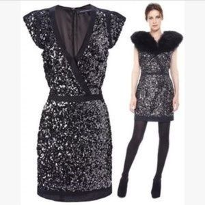 FRENCH CONNECTION Lucinda Sequin Dress Sz 6